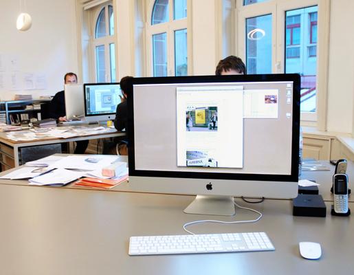Typografischen gestalter continue ag kommunikationsagentur for Job grafiker