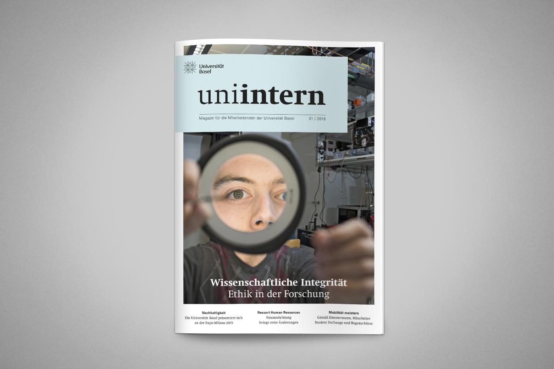 """Das Mitarbeitermagazin """"uniintern"""" in neuer Form"""